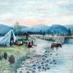 Cygański biwak nad potokiem