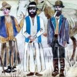 Trzech Cyganów z końmi