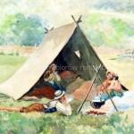Cyganie w namiocie